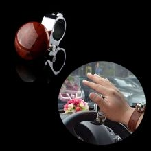 New Hot Universal Auto Car Grip Knob Turning Hand Ball Car Truck Steering Wheel Power Ball Handle Brown Car Styling