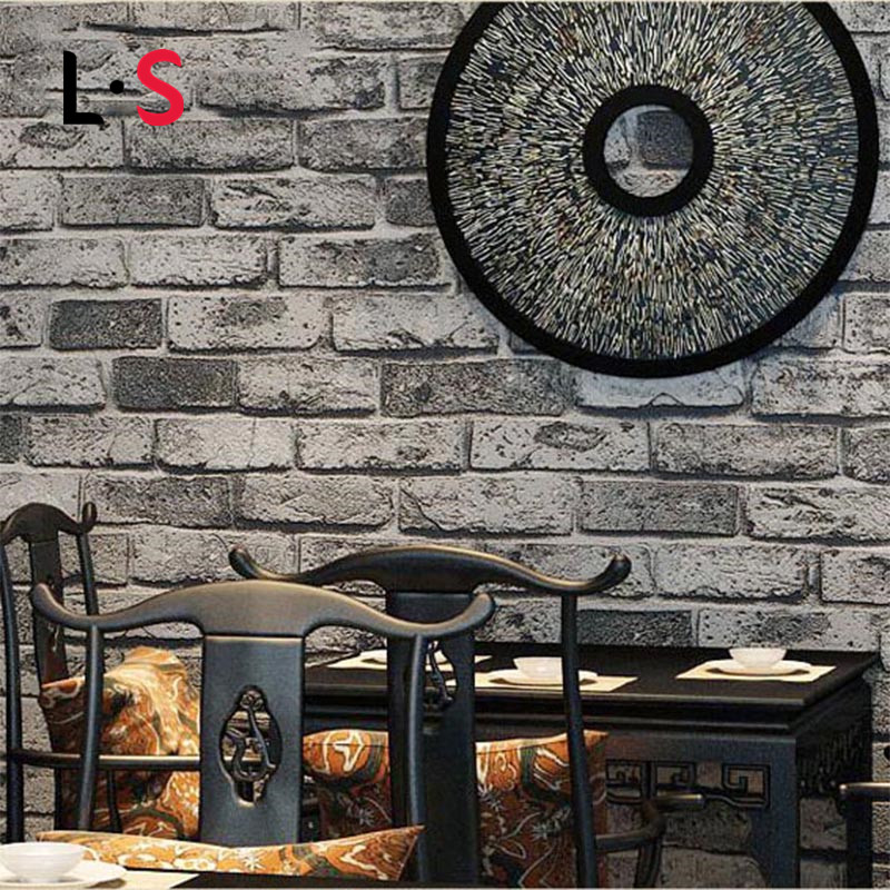 Vintage Embossed Brick Roll Modern 3D Effect Brick Wallpaper For Wall Living Room Background Self-adhesive Covering WP16026<br>