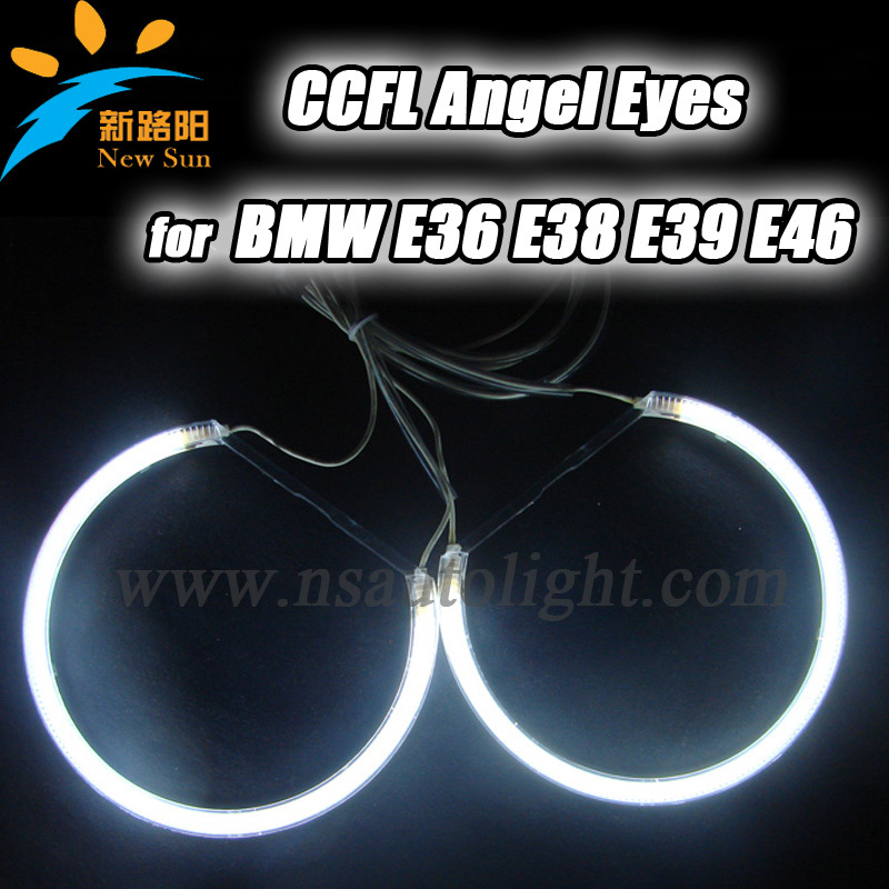 CCFL Angel eyes for BMW E36 E38 E39 E46 131mm 4 car auto angel eyes light angel eye rings ccfl with 2 water proof inverters<br><br>Aliexpress