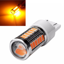 CYAN SOIL BAY Bright Amber Yellow LED Reverse Light T25 3157 3156 3056 3057 For Backup Brake Bulb 33SMD 33 SMD 12V