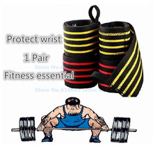 Sports Wrist Support Protection Weightlifting Tennis Badminton Wristband Bracer Fitness Gym Equipment L346
