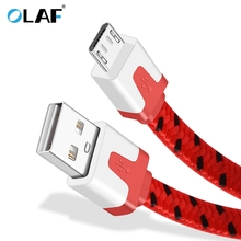 OLAF Micro USB Cable 2.4A Phone Fast Charging Cable Samsung Huawei P20 Xiaomi Redmi LG Microusb Charger Cable Micro USB Cord