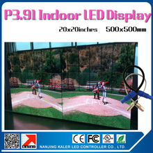 TEEHO 16pcs 20x20inches P3.91 led display panel 64X64pixel 1/16scan 2121SMD led panel indoor rental 4square meter led video wall