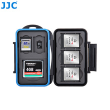 JJC Water-Resistant Camera Memory Card Case 1 CF, 2 SD, 3 XQD, 2 TF Cards Compact Tough Storage Box(China)