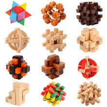 Kong Ming Luban Lock Chinese Traditional Toy Unique 3D Wooden Puzzles Classical Intellectual Wooden Cube Educational Toy gift(China)