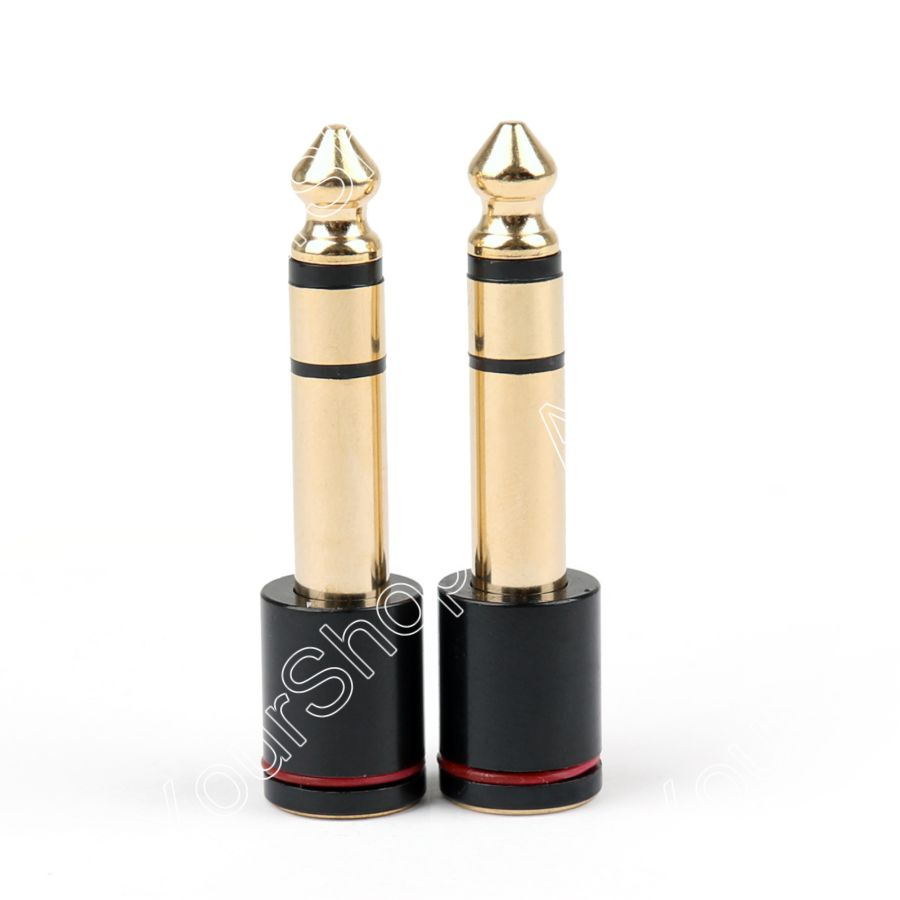Sale 2PCS Copper 6.35mm Male Plug To 3.5mm Stereo Female Headphone Jack Audio Adapter<br><br>Aliexpress