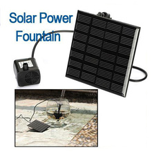 7V 1.1W Brushless DC Solar Power Fountain Water Pump Panel Kit Pool Home Garden Fish Pond Watering Pumb 180L/H