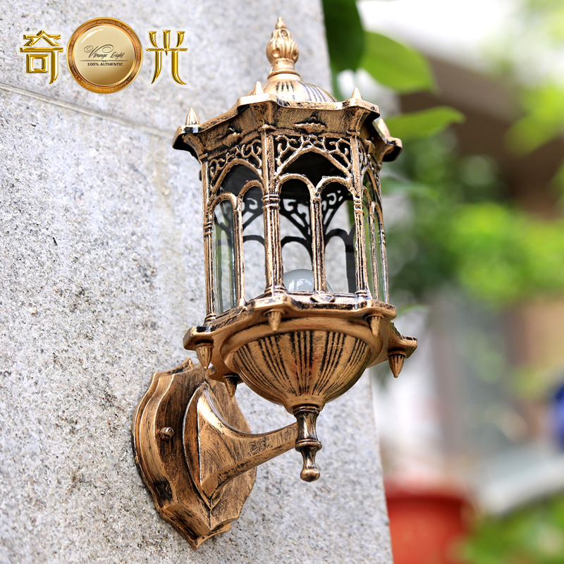 European outdoor garden villa courtyard balcony wall waterproof outdoor hallway wall lamp<br>