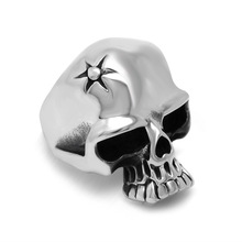 Our sun retro ring jewelry manufacturers domineering personality skull ring SA876 316L stainless steel(China)
