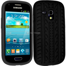 Tire pattern Soft Silicone Skin Mobile Phone Case Cover For Samsung Galaxy S3 Mini i8190 Back Cases Covers(China)