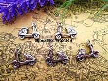 45pcs--Scooter Charms  Antique Tibetan Silver Tone Motorbike Vespa Moped Motorcycle pendants charms 19x15mm