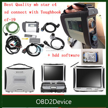 DHL free Perfect PCB Mb Star C4 Best Wifi card + 2017.09V HDD mb star c4 sd connect software With toughbook cf-19 C4 installed