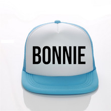 BONNIE CLYDE Print Trucker Caps Polyester Women Gift For Her High Quality Flat Bill Hip-Hop Snapback Hat Gorras Free Shipping(China)