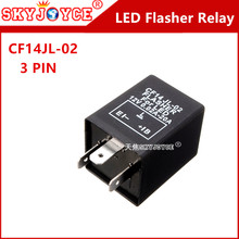 1X 3-Pin motorcycle led flasher CF14 JL-02 Flasher Relay Fix module LED/SMD Turn Signals decoder canbus car flasher 12V max20A