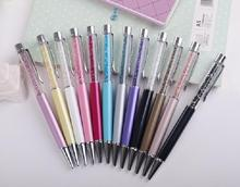 Brand new Crystal Pen diamond swarovski elements crystal ballpoint pen for wedding party Gift students office stationery retail(China)
