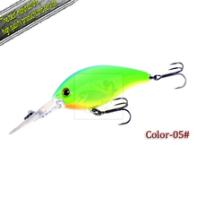 Free Shipping Chuangfeng lure/hardbait/crankbait, bomber, size 95mm 17.5g lure-6/color-6/pcs(China)