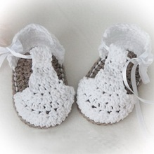 Baby Summer Shoes,Barefoot sandals Crochet crochet baby booties,crochet baby sandals, perfect for any occasion size: 9cm,11cm(China)