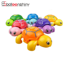BalleenShiny Wind Up Baby Funny Toy Cute Cartoon Turtle Spring Clockwork Classic Kids Early Learning Educational Children Toy(China)