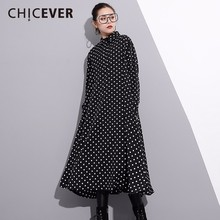 Buy CHICEVER 2018 Spring Fashion Black Women Dress Long Sleeve Loose Big Size Pullovers Dot Dresses Female Clothes Casual for $22.94 in AliExpress store