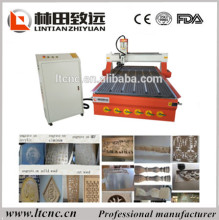 China vacuum table cnc router 1325 for wood/ with rotary axis wood carving machine cnc router