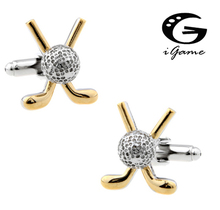 iGame Fashion Golf Cuff Links Gold-color Brass Material Factory Supply Free Shipping(China)