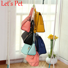 Let's Pet Hanging Bedside Wardrobe Closet Hanger Storage Organizer Closet Rack Hangers with Pockets Bag Purse HandbagTote Bag