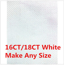 Aida Cloth Discount Shop 16CT OR 18CT  Whites  Fabric Cross Stitch Canvas 150X50cm Or Make Any Size