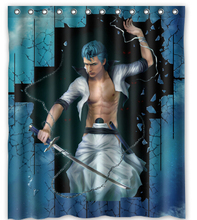Hot Anime Cool Bleach Custom Personalized Waterproof 180x180cm Shower Curtain Bathroom Products Bath Curtains
