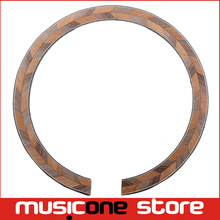 Acoustic Guitar Maple and Rosewood Soundhole Rosette Inlay Guitar Body Project Parts