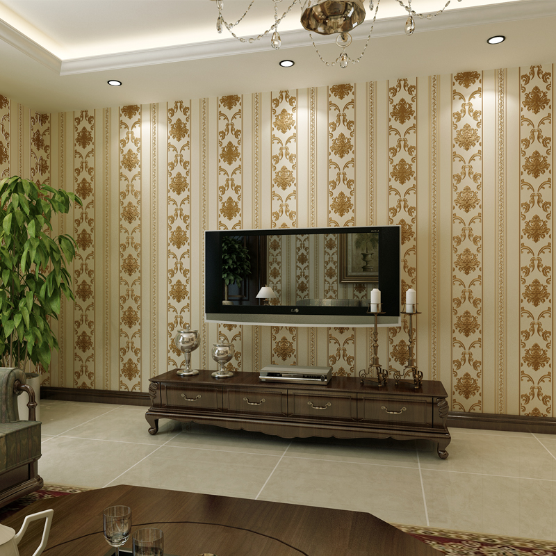 beibehang Luxurious European 3D stereo carving non - woven wallpaper living room bedroom restaurant walkway background wallpaper<br>