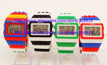 50pcs/lot Classic Plastic SHHORS Digital Watch Candy Night Light Up Flash Flashing Waterproof Unisex Jelly Rainbow Alarm Watches