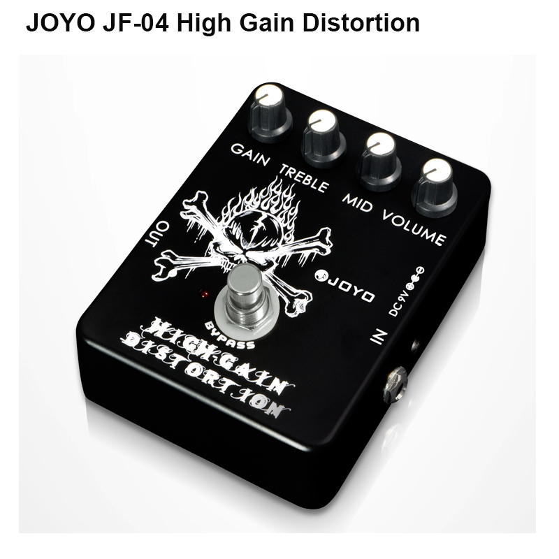 JOYO JF-04 High Gain Distortion guitar effect pedal distortion stompbox adjustable from Crunch to Metal distortion true bypass<br>
