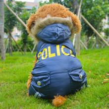 New Arrival Brand FBI Style Pet Dog Windbreaker Clothes Winter Warm Dog Coat for Small and Big Dogs