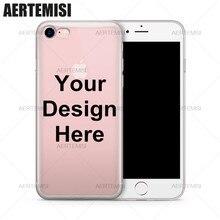Создайте свой собственный Чехол персонализированные защиту для вашего телефона ясности TPU чехол для iPhone 4 4S 5 5S 5C SE 6 6 S 7 Plus(China)