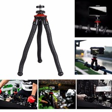 2017 New Octopus Spider Flexible Mini Portable Tripod Stand w/ Ballhead +Phone Holder for iPhone Samsung Camera Sony A7 A6300(China)