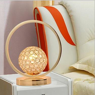 novel brief design wedding decoration golden luxurious K9 crystal H 27cm led E27 table lamp living room bedroom desk light 1625<br><br>Aliexpress