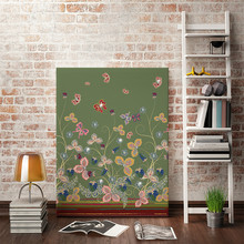 HAOCHU Crystal Canvas Painting Flower Mural Pretty Glitter Jewel Handmade Bling Creative DIY Picture House Room Wall Art Decor(China)