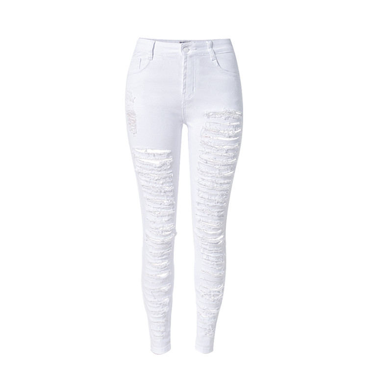 2016 Plus SIze European Style Stretch High Waist Denim Pants Long Jeans Wholesale New Rip Jeans Denim Women Brand Clothing S1525Îäåæäà è àêñåññóàðû<br><br>