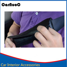 Car seat belt shoulder sleeve Carbon fiber Cover Shoulder Pad seat belt fit for MAZDA FORD Mercedes benz CLK GLK ///AMG W203 204(China)