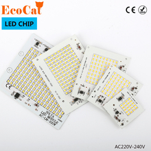 ECO C LED Chips Lamp LED driver Smart IC 10W 20W 30W 50W 90W 220V chip bulb with driver For Outdoor FloodLight Cold Warm White