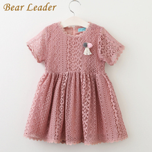 Bear Leader Girls Dress 2017 Summer Style Kids Lace Dresses Fashion Appliques Lace Design for Baby Girls Dress Children Clothing