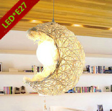 new fashion home decoration rustic lamp stair balcony pendant light child Rustic rattan moon lighting/balcony lamps /bar modern