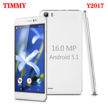 TIMMY Original Y2017 5.5 inch screen Mobile Phone 16MP camera 5.5 inch screen MTK6580 Quad Core Dual Sim Cell Phone GSM/WCDMA(China)
