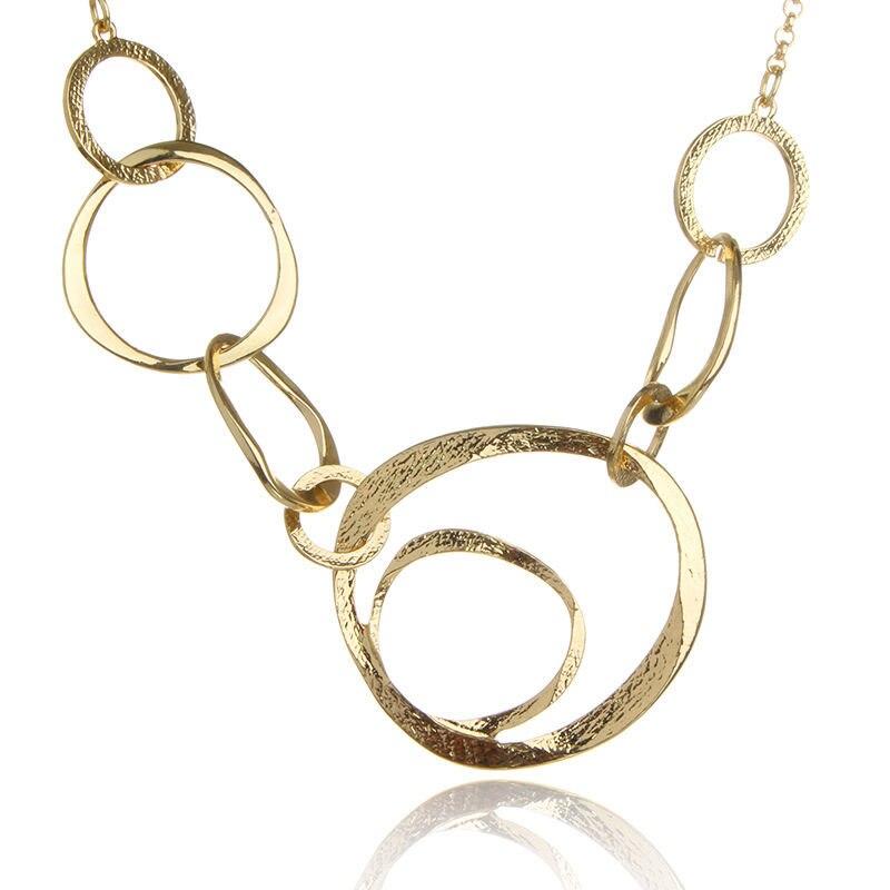 New Women Classical Large Round Circle Statement Pendant Necklace Bib Choker