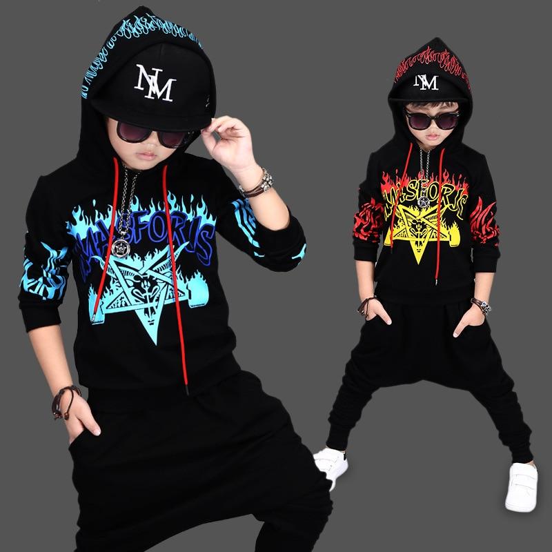 2017 Autumn Boys Clothes Sport Suit For A Boy Childrens Sets Hip Hop Dancing Two Pieces Hoodie + Pants Children Clothing 1733<br>