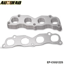 AUTOFAB - 10PCS/LOT Performance Exhaust Gasket For Honda Civic Integra RSX K20A K20A2 K20Z4 AF-CGQ122S