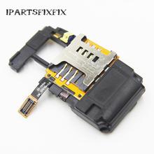 10pcs/lot 100% Genuine for Samsung S8500 Wave speaker+SIM card reader holder slot loudspeaker(China)