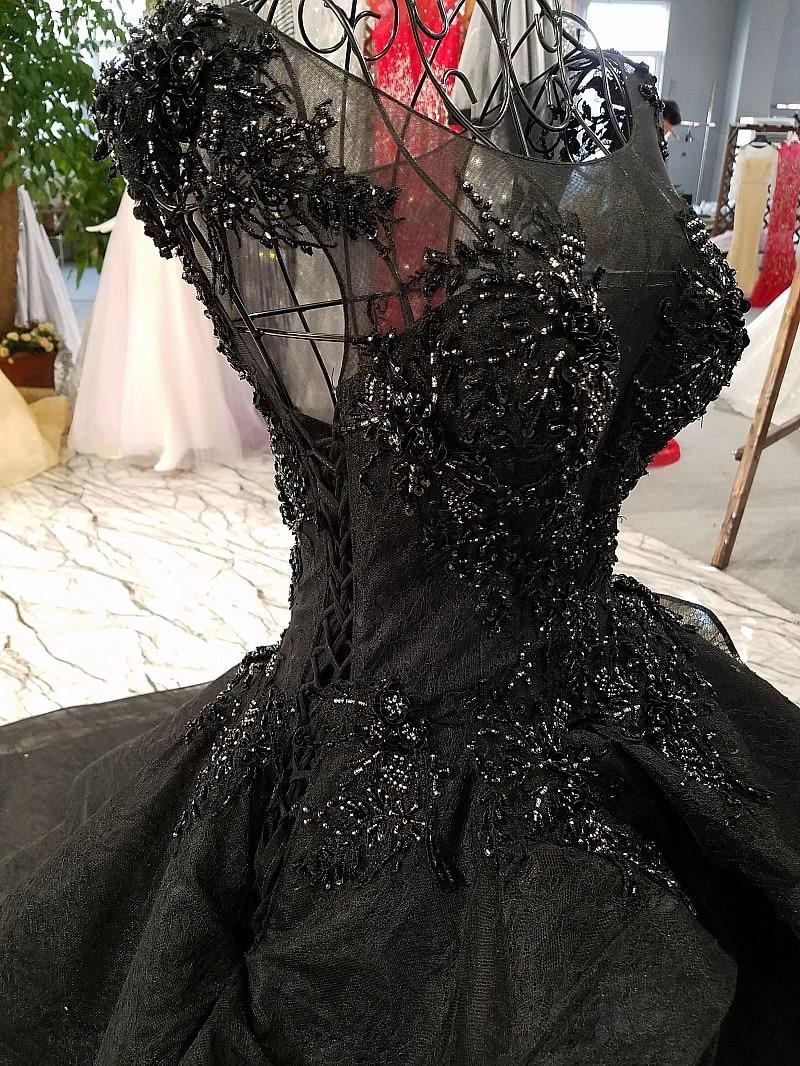 beaded black wedding dress