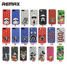 Remax Fashion Goyar Case For iphone 6 6S Plus 7 7 Plus Cartoon Storm Trooper Monopoly Lafayette Snake Tiger Leather Phone Cover