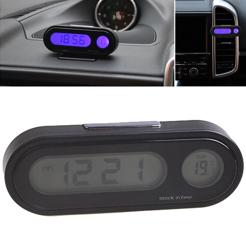 Mayitr LED Screen 2 in1 Auto Car LED Digital Display Clock Thermometer Fashion Automotive Electronic Digital Clock Car Ornament(China)